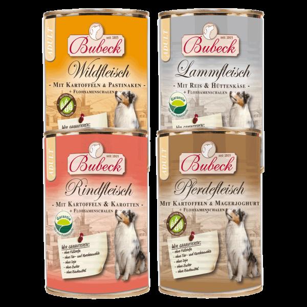 Bubeck - Nassfutter - Probierpaket 12 x 410g Bubeck Dosennahrung