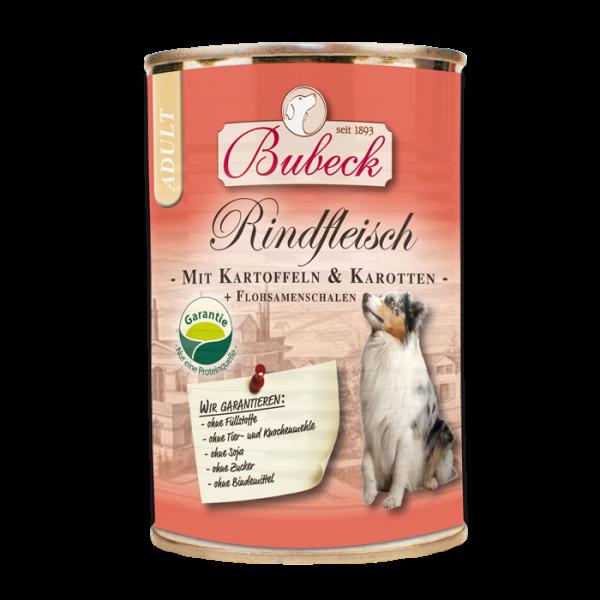 Bubeck - Nassfutter - Rindfleisch mit Kartoffel und Karotte