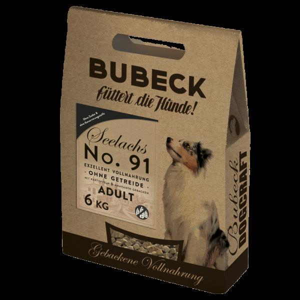 Trockenfutter getreidefrei Single Meat Seelachs Hunde Bubeck No 91