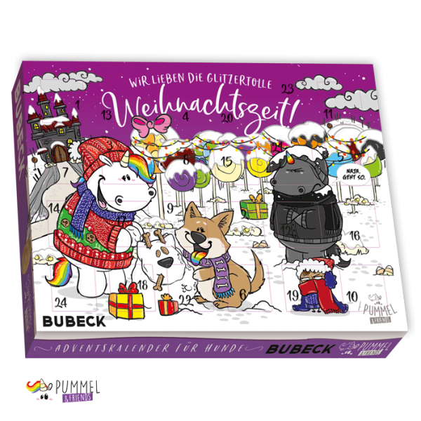 Bubeck - Pummeleinhorn Adventskalender 2020 - getreidefrei