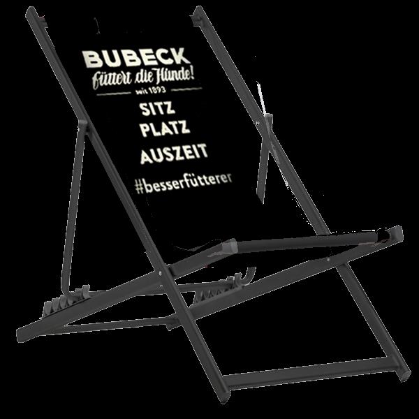 Liegestuhl AUSZEIT ohne Lehne, Aluminium black