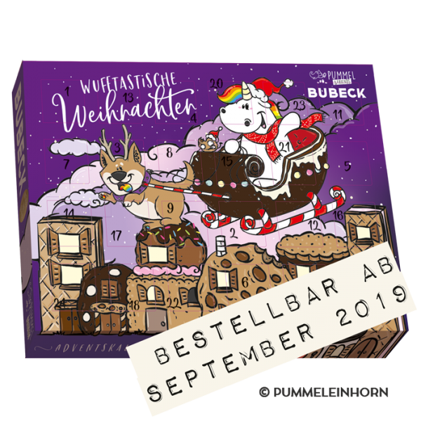 Bubeck - Pummeleinhorn Adventskalender 2019 - getreidefrei