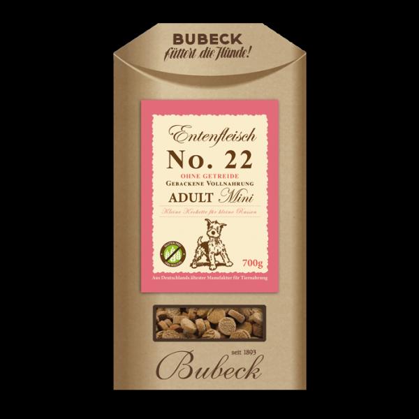 Bubeck - Trockenfutter - No. 22 Entenfleisch - kleine Rassen - getreidefrei