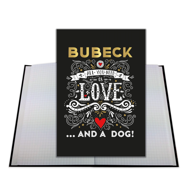 Bubeck - Notizbuch - All you need is Love