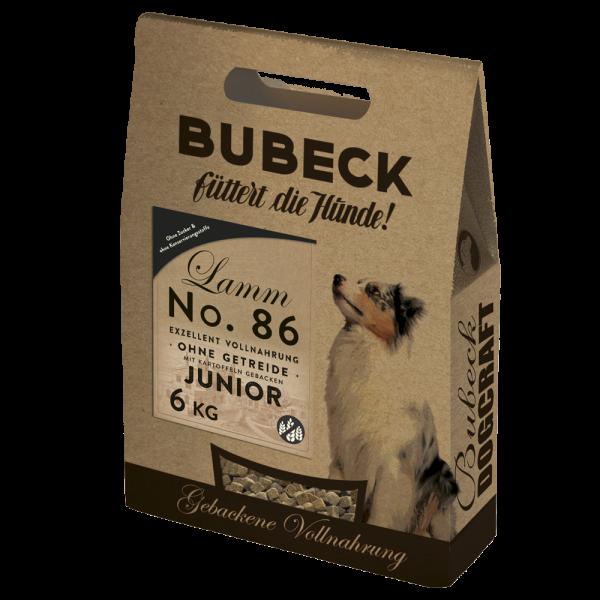 Trockenfutter getreidefrei Single Meat Lamm Welpe Hunde Bubeck No 86