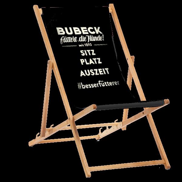 Liegestuhl AUSZEIT ohne Lehne, Holz