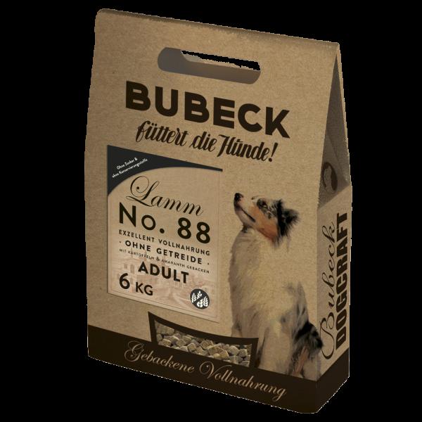 Trockenfutter getreidefrei Lamm Hunde Bubeck No 88