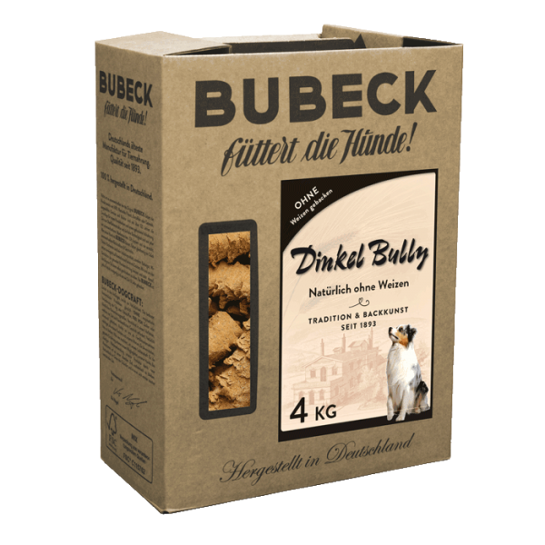 Bubeck - Hundekuchen - DinkelBullyBiskuit - weizenfrei