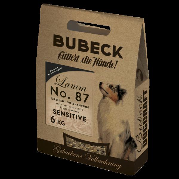 Trockenfutter Weizengluten frei Lamm Hunde Bubeck No 87