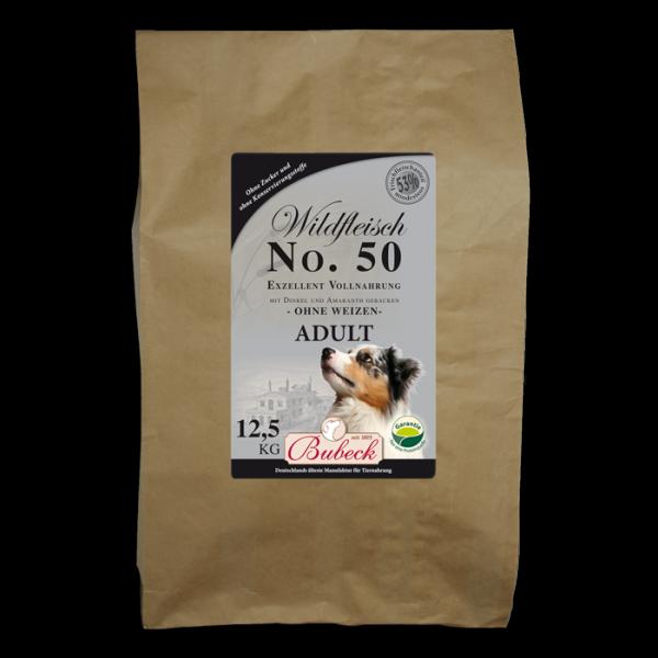 Trockenfutter Weizenfrei Single Meat Wild Hunde Bubeck No 50