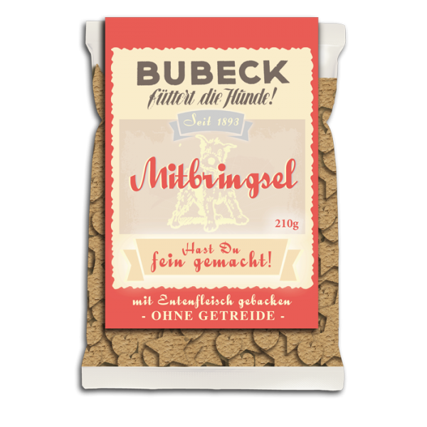 Bubeck - Leckerli - Der Mitbringsel Hundekuchen - Classic - getreidefrei