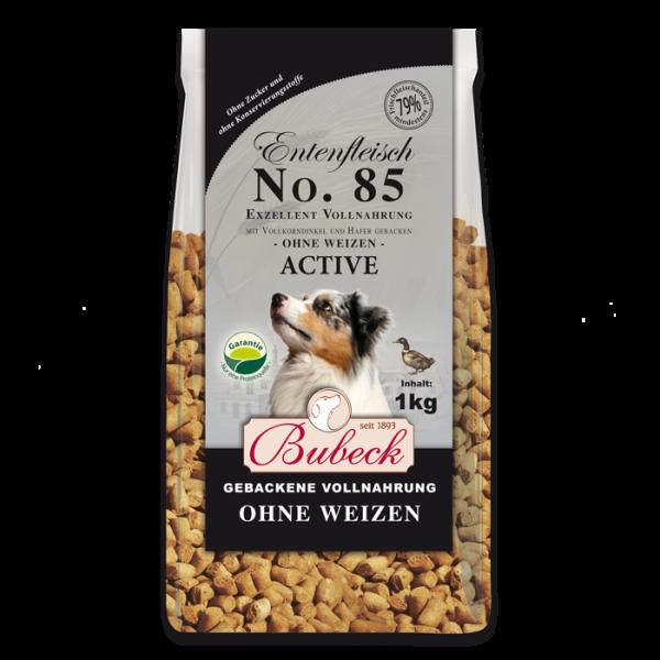 Trockenfutter ohne Weizengluten Single Meat Ente Hunde Bubeck No 85