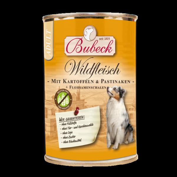 Bubeck - Nassfutter - Wildfleisch mit Kartoffeln und Pastinaken