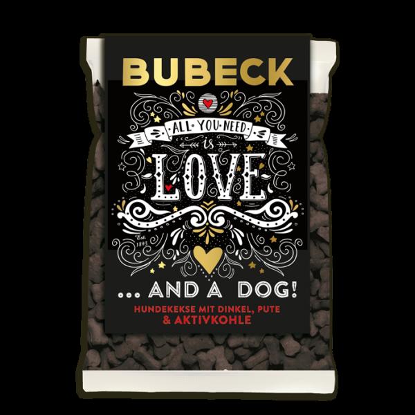 The dark side of Bubeck - Hundekuchen mit Dinkel & Aktivkohle 210g