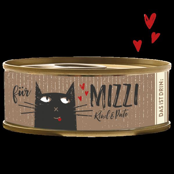 Katzendosenfutter - Mizzi - Rind & Pute - Bubeck
