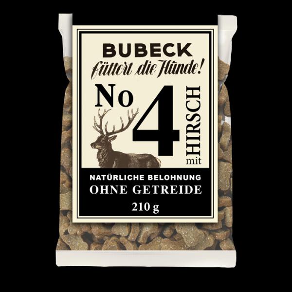 Bubeck - Hundekuchen - No. 4 mit Hirsch - getreidefrei