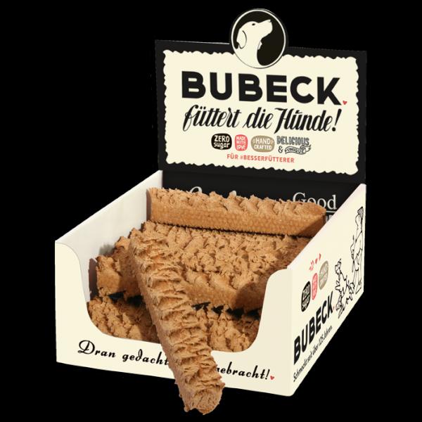 Hundekuchen gebacken Zahnbürste extra Hart mit Rind und Gefluegel fuer Hunde von Bubeck