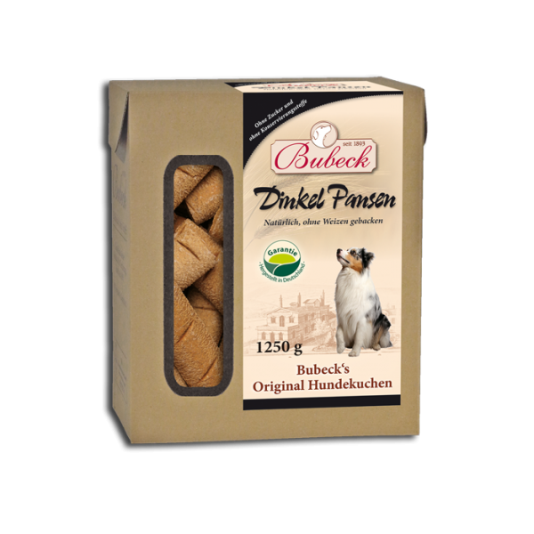 Bubeck - Hundekuchen - DinkelPansenbrot - weizenfrei